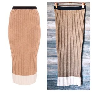Ronny Kobo rib knit pencil bodycon skirt